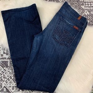 7 for all Mankind LUXE pocket boot cut jeans